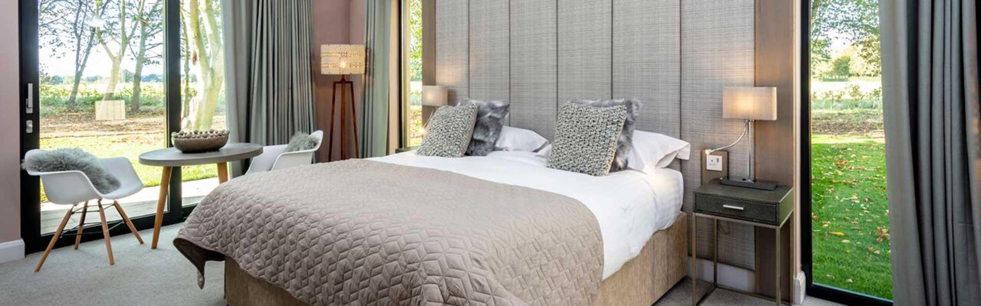 Bedroom design at Park Farm in Hethersett