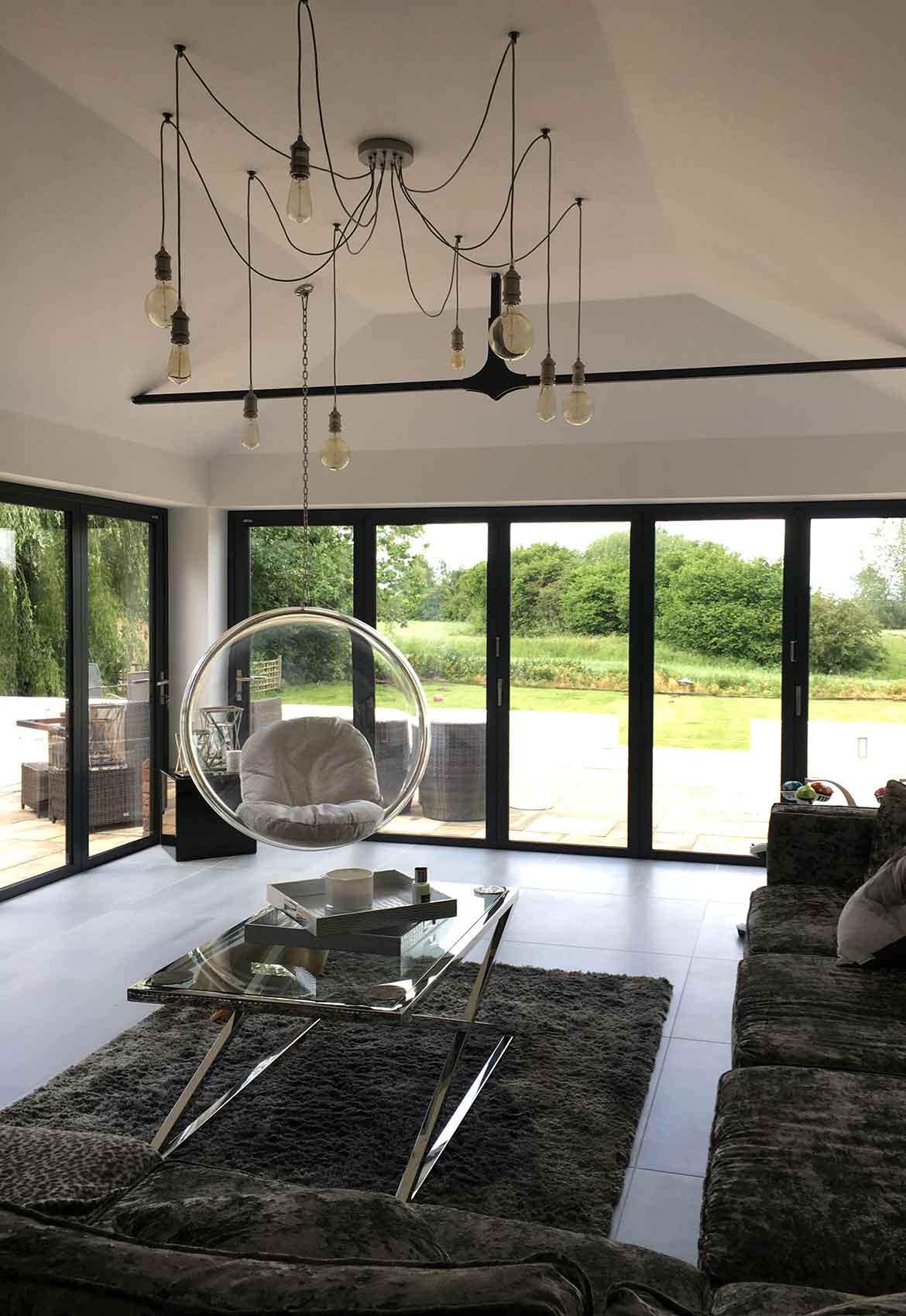 modern residential living space design