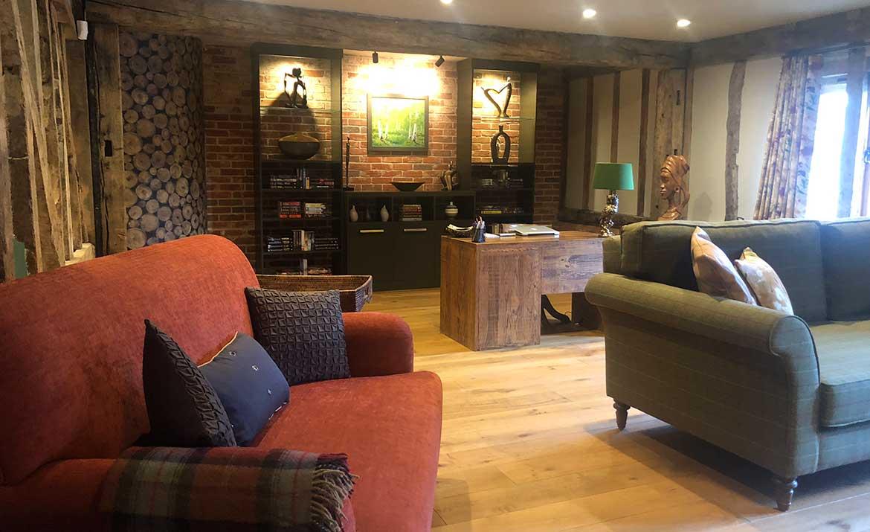 interior design of family home in norfolk