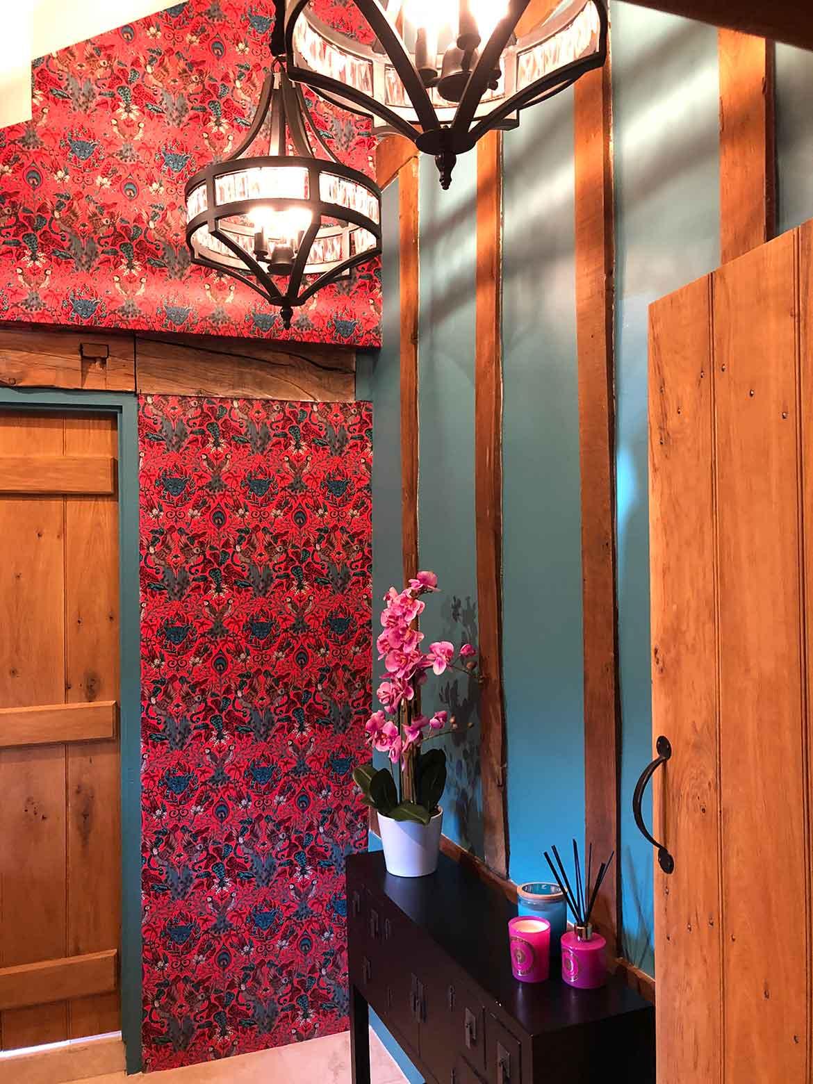 Wallpaper interior design in norfolk