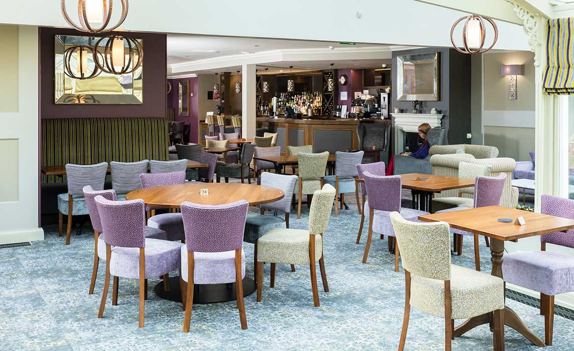 Commercial Interior Design for Park Farm Hotel Bar Area